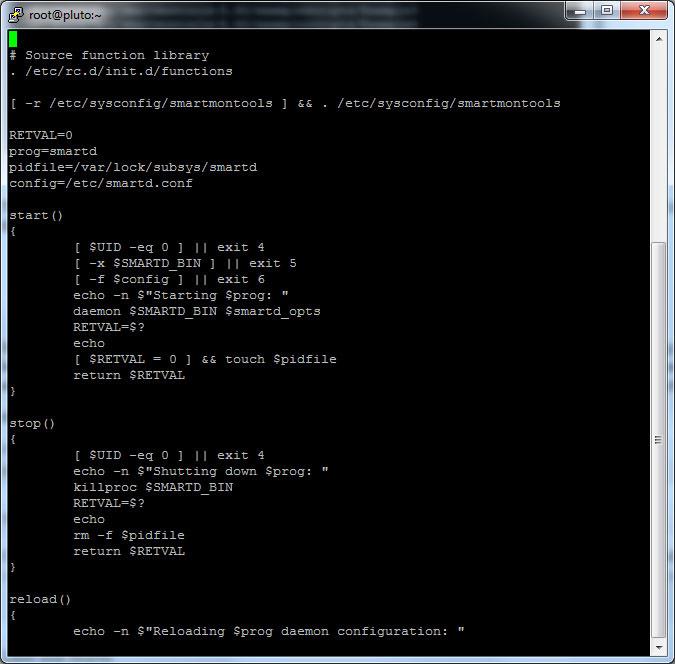 smartd init script