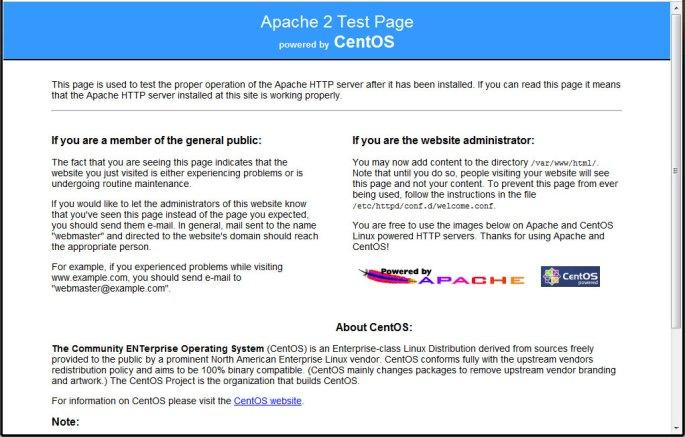 default-apache-page
