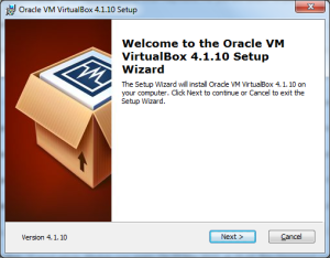 Installing VirtualBox step 1