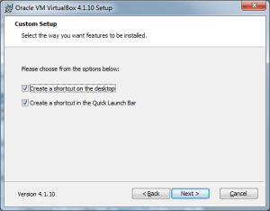 Installing virtualbox step 4