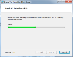 installing virtualbox step6