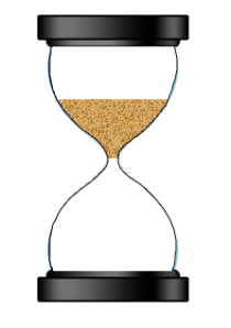 Hourglass in suspended animation