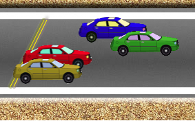 Cars in motion HTML5