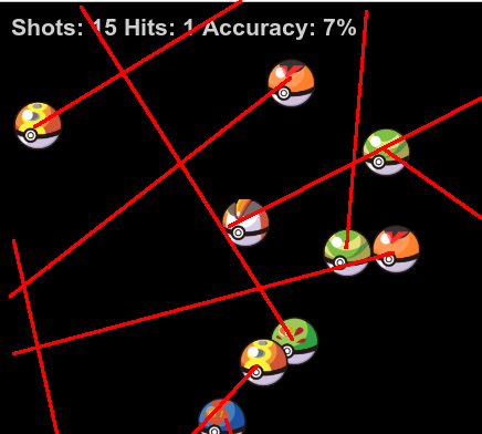 Sphere shaped bad guys with line showing exit path from screen