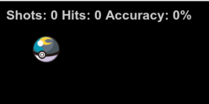 Shot, hits and accuracy ratio