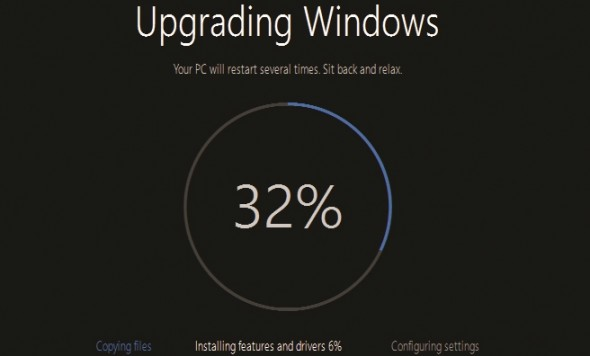 Windows 10 Progress Widget